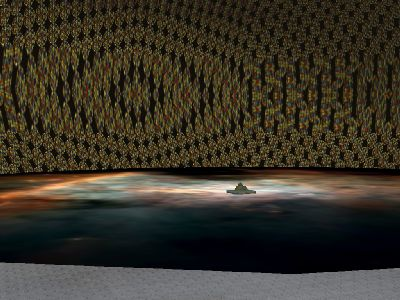 Tritt man durch in einen Seitengang der Höhle,  so gelangt man z.B. in diese Halle.